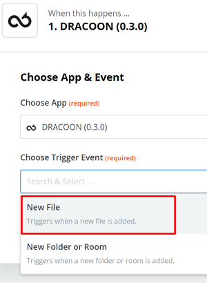 DRACOON and Zapier 1