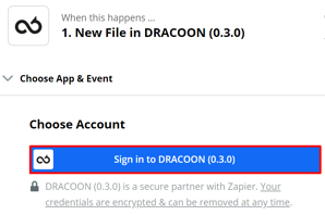 DRACOON and Zapier 2