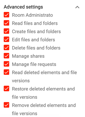 Permissions DRACOON