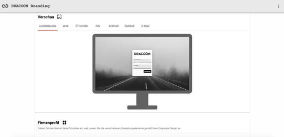 DRACOON Branding-Vorschau