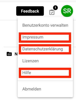 DRACOON Branding Nutzerprofil