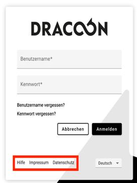 DRACOON Branding Login Maske