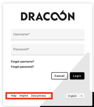 DRACOON Branding Login Mask