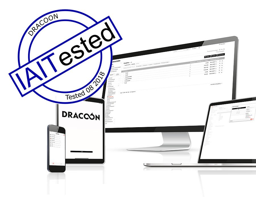 Tested thoroughly by the IAIT: The Enterprise Cloud from DRACOON